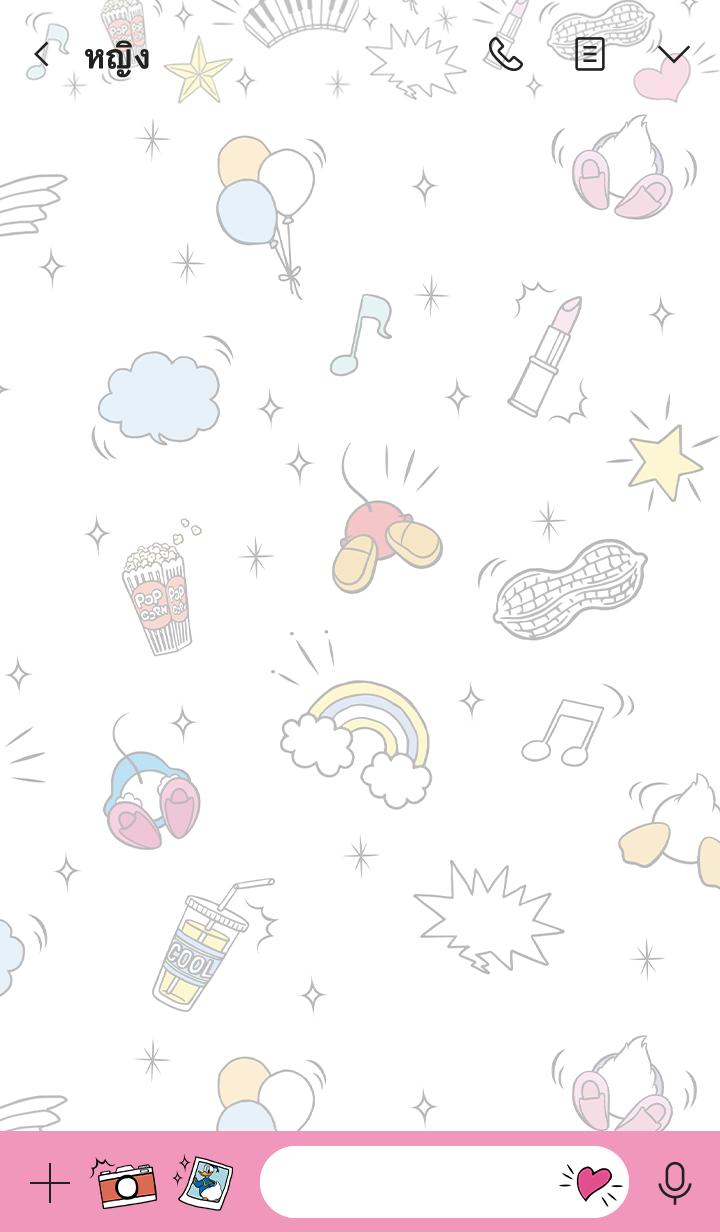 ธีมไลน์ Mickey & Friends (Rear-ly Cute♪)