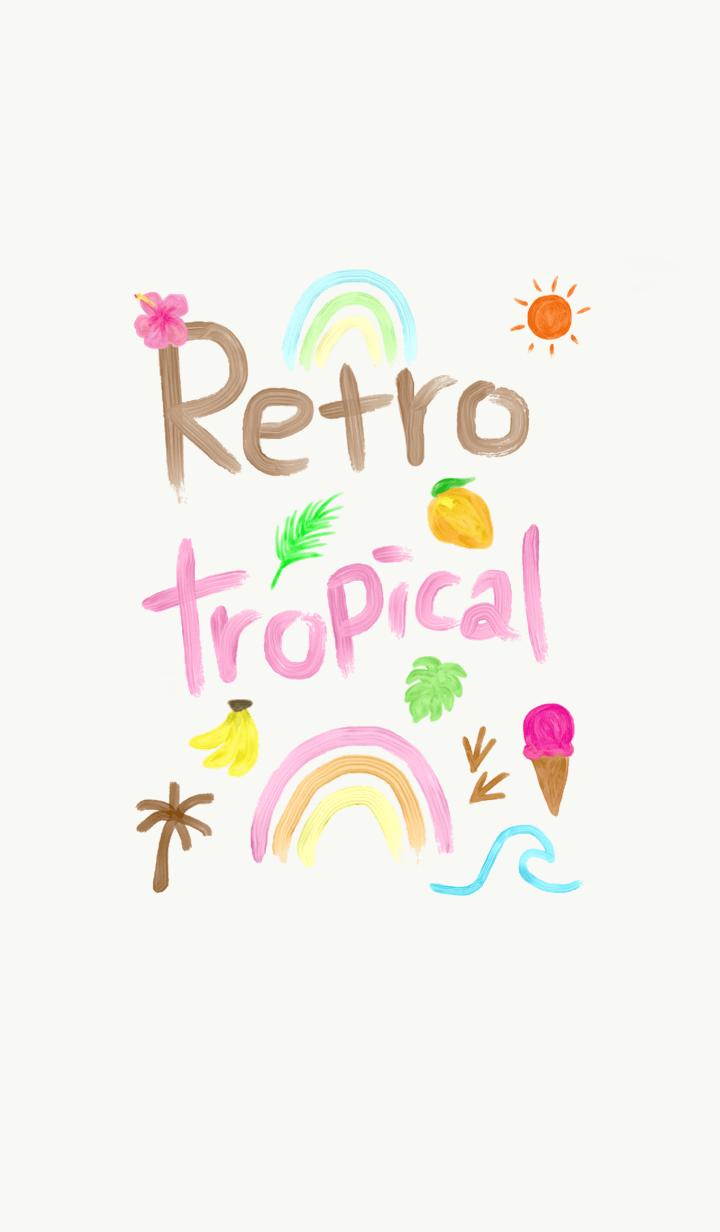 ธีมไลน์ Retro tropical theme