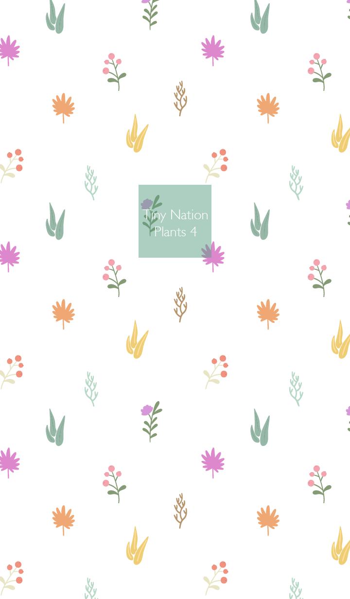 ธีมไลน์ Tiny Nation - Plants 4