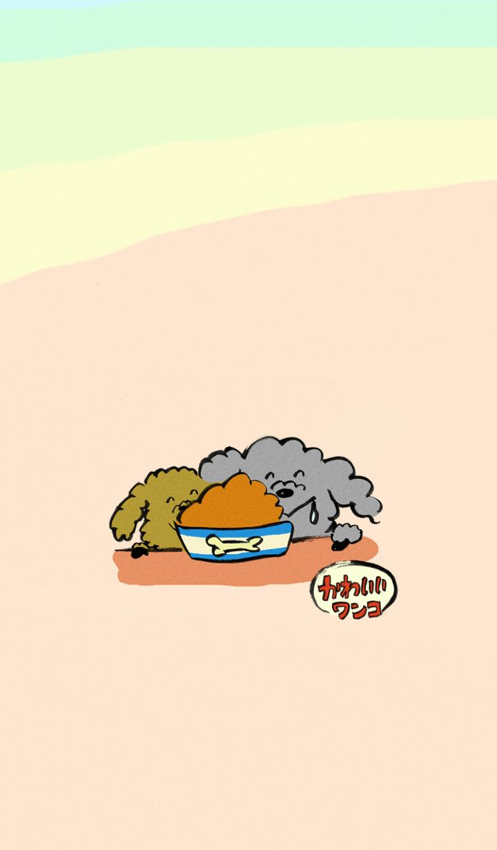"""ธีมไลน์ """"Sumi-e"""" Cute puppies theme"""