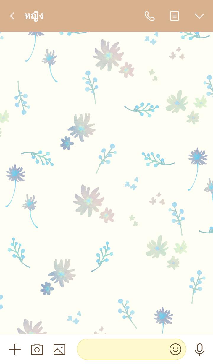 ธีมไลน์ Melancholic Flowers 2