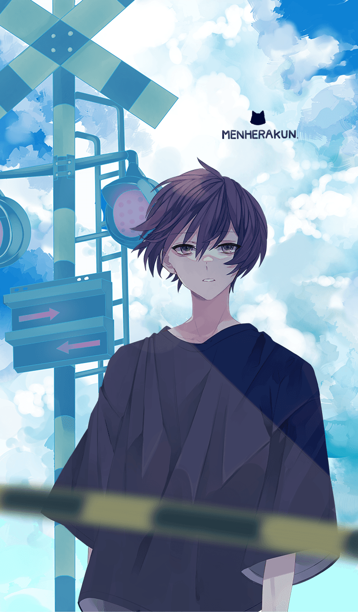 ธีมไลน์ Menhera-kun. summer sky ver.