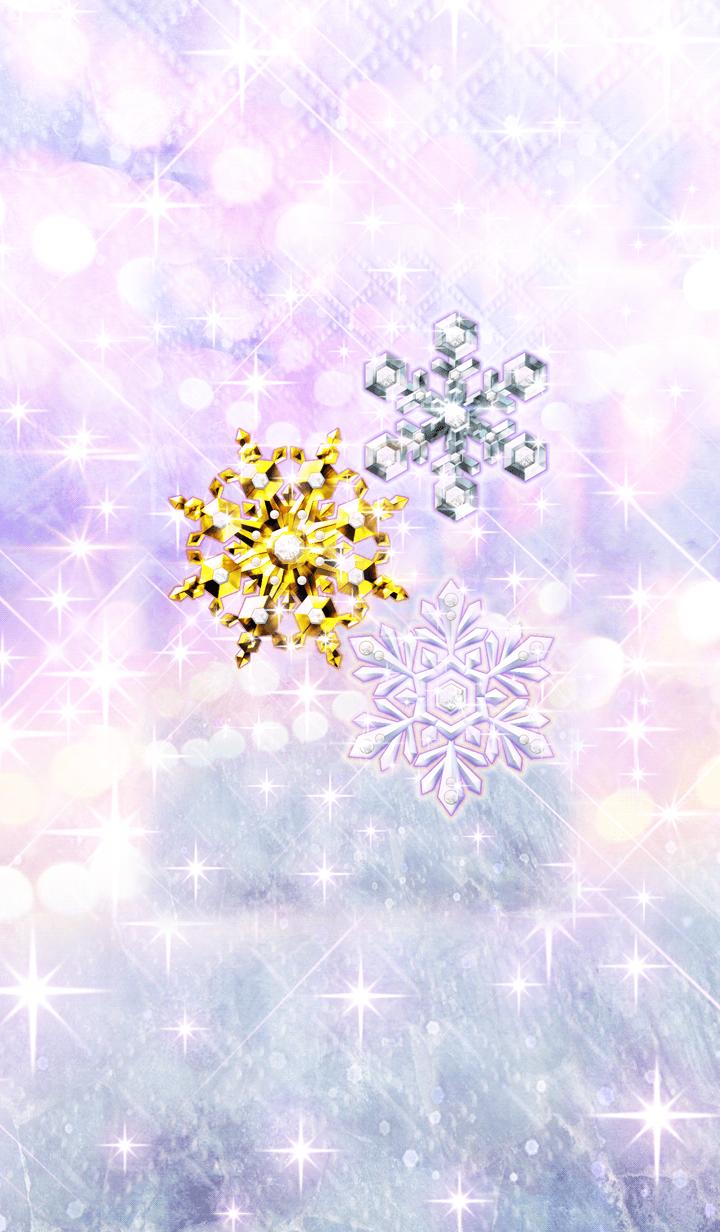 ธีมไลน์ Snowjewelry that quickly forms happiness