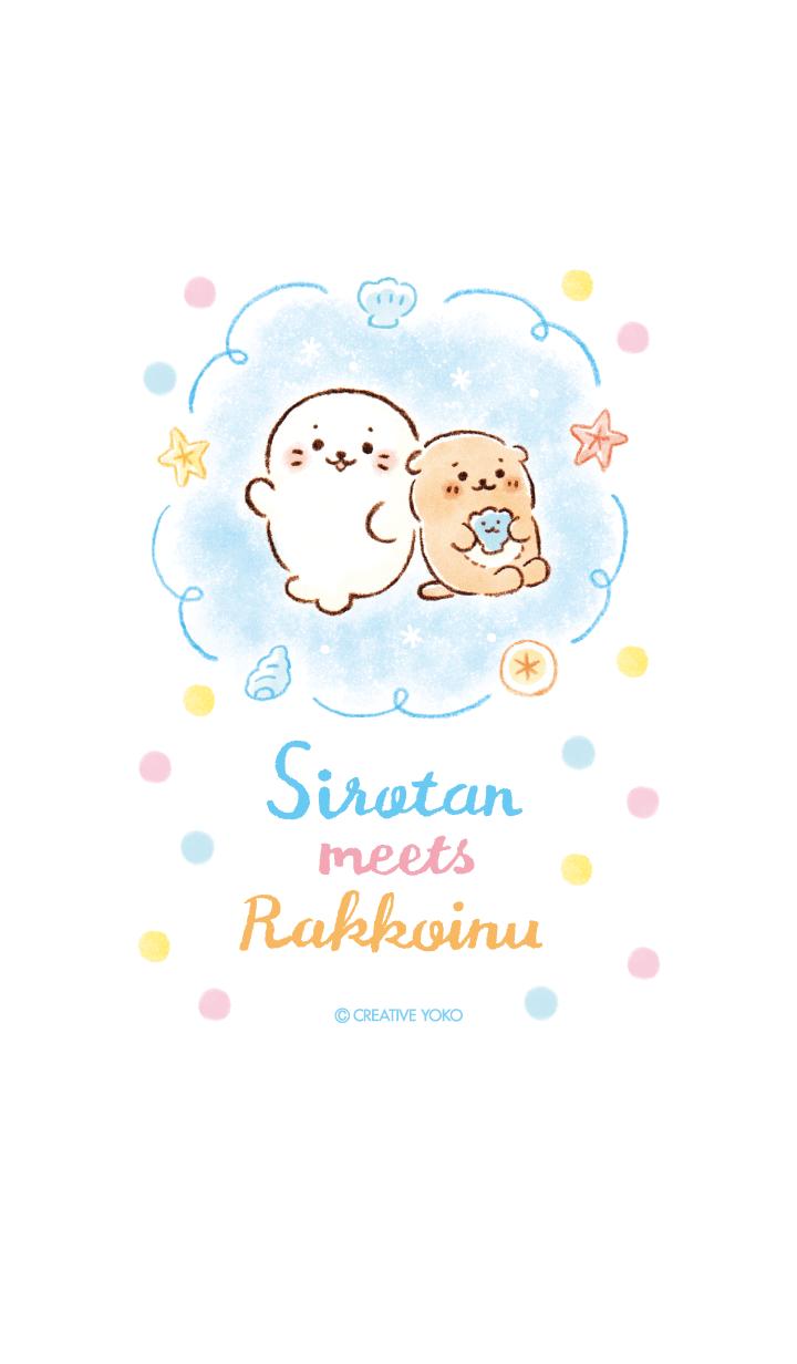 ธีมไลน์ Sirotan & Rakkoinu Theme