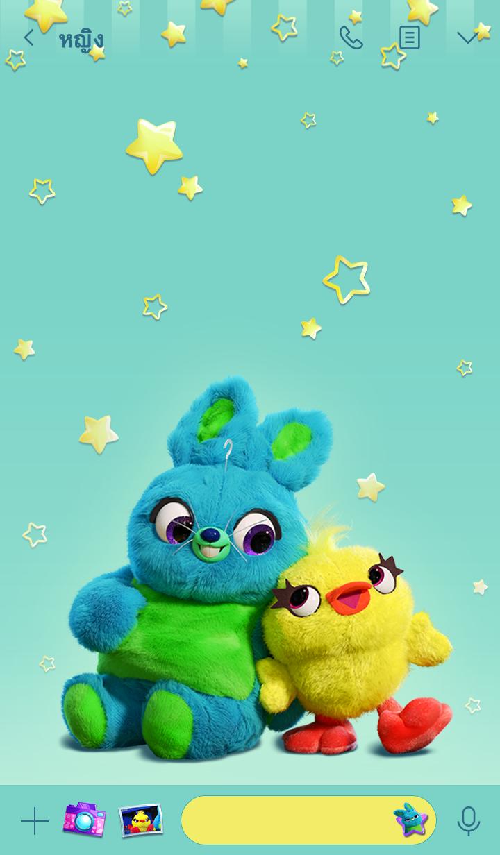 ธีมไลน์ Ducky & Bunny