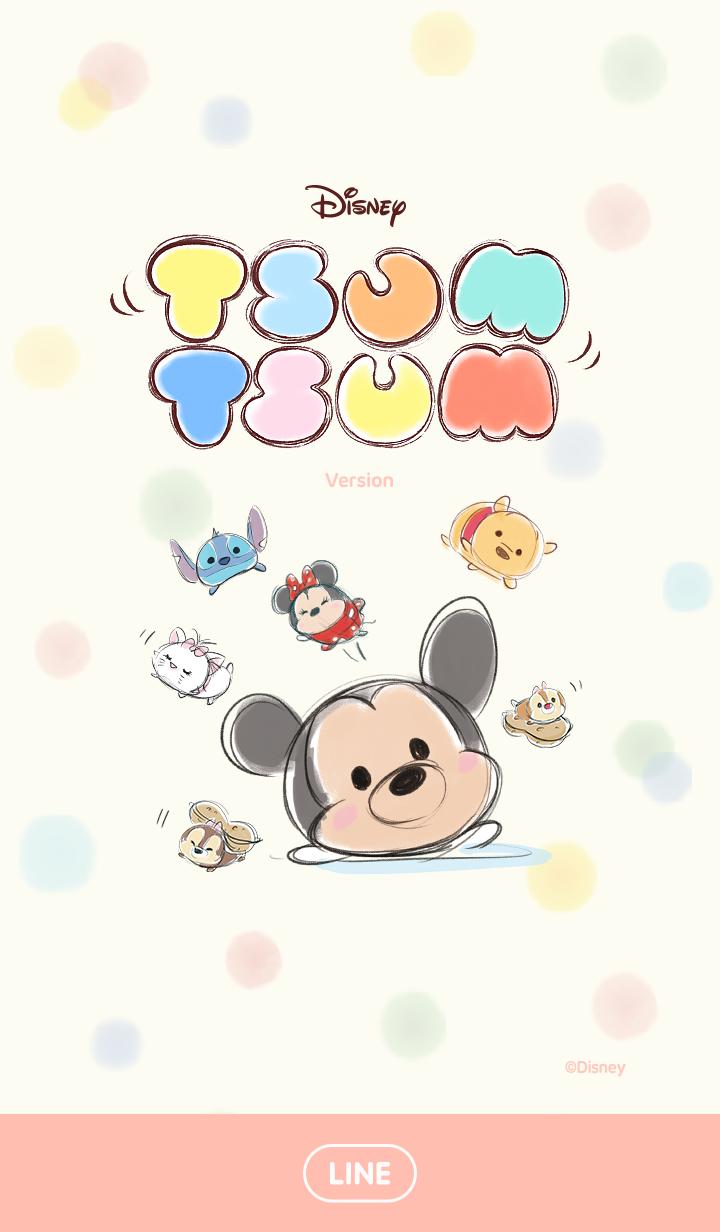 ธีมไลน์ Disney TsumTsum น่ารักสบายๆ