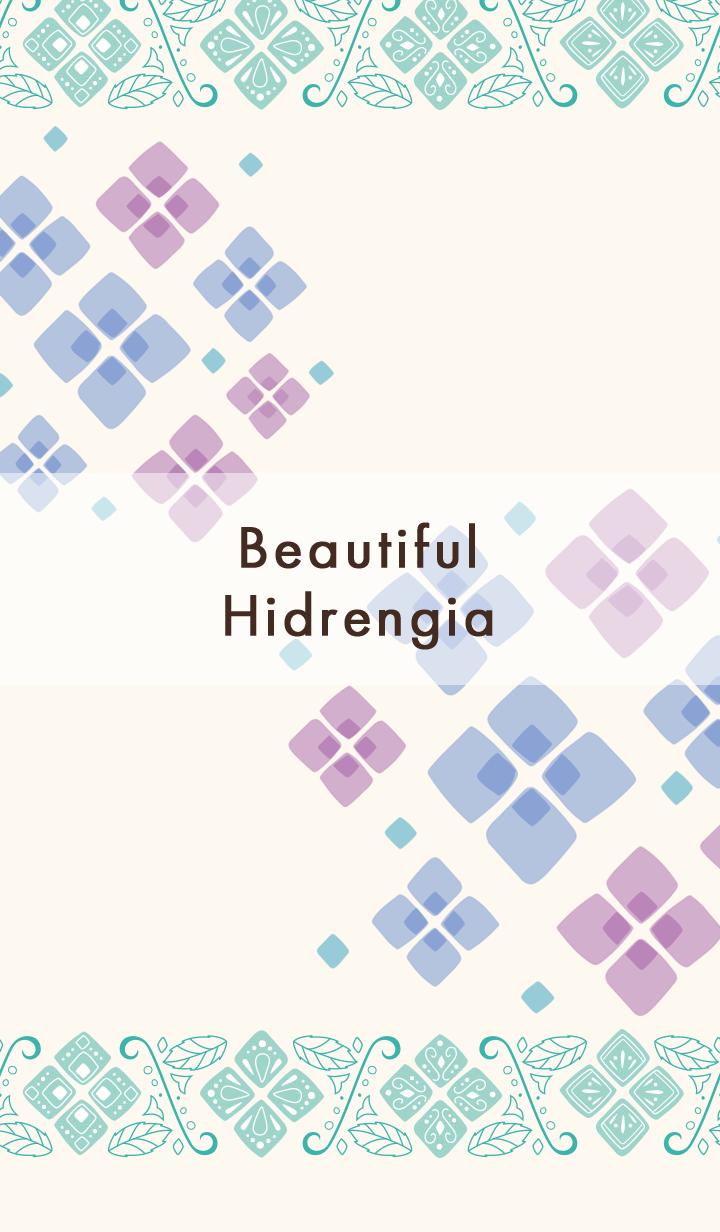 ธีมไลน์ Beautiful Hydrangea