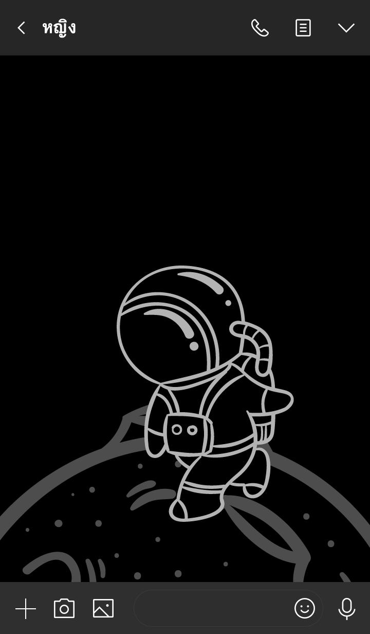 ธีมไลน์ ดาร์ก กาแล็กซี่