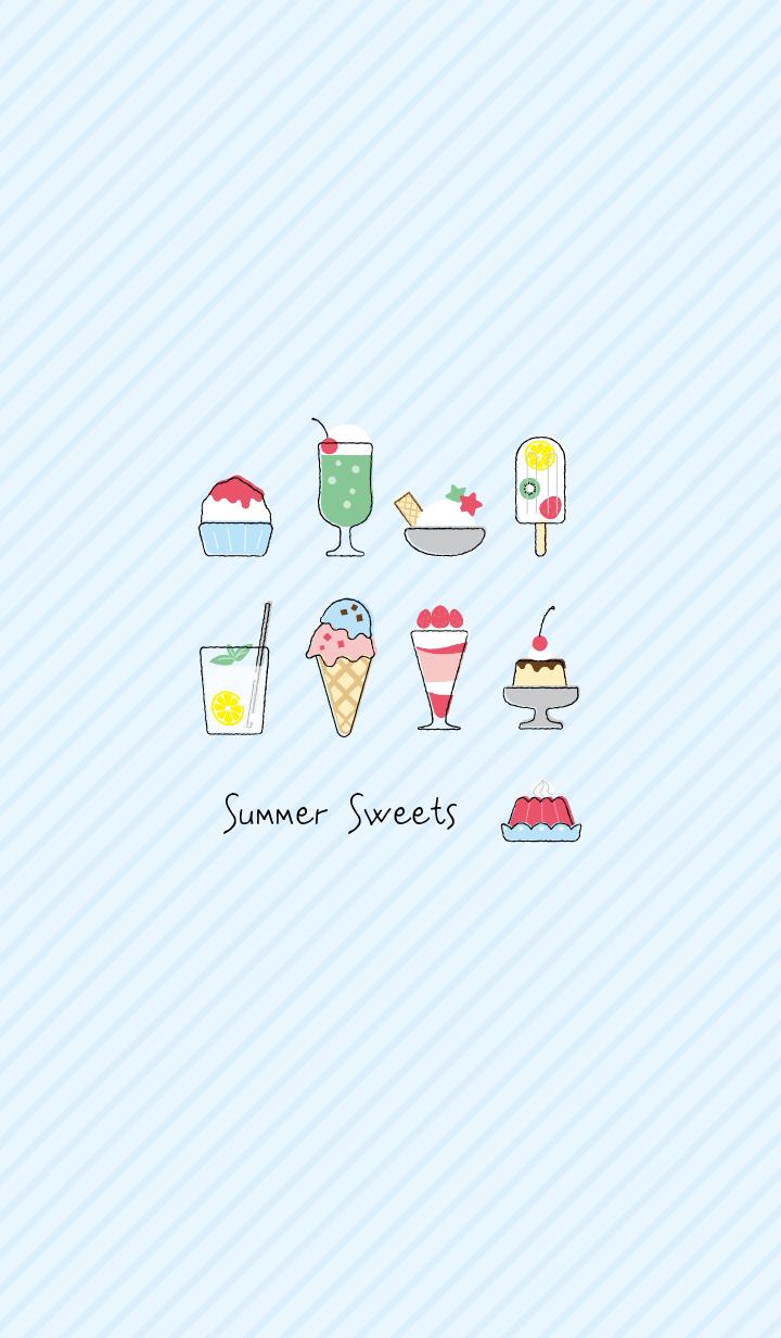 ธีมไลน์ Summer Sweets and Desserts Theme