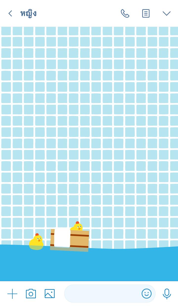 ธีมไลน์ BATH TIME for Polar bear