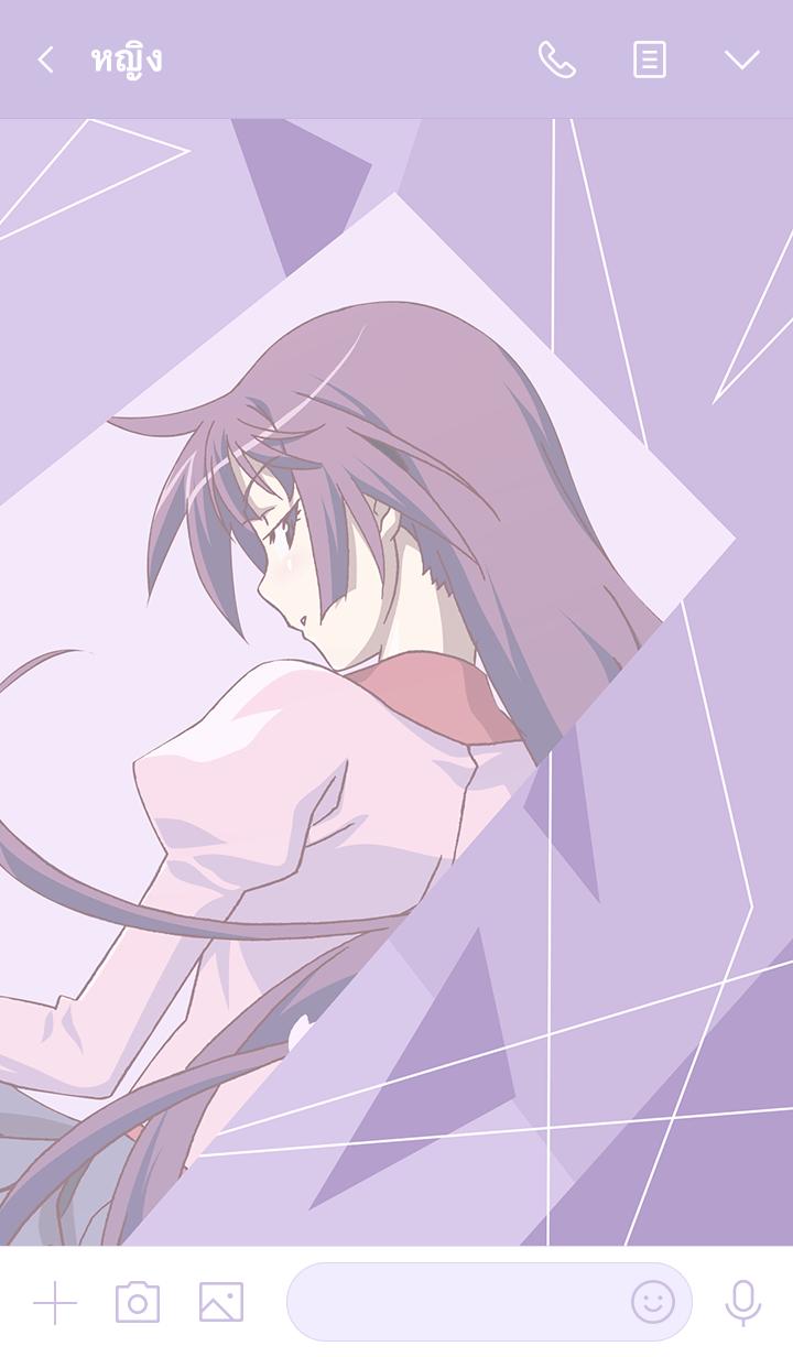ธีมไลน์ MONOGATARI Series(Senjogahara Hitagi)