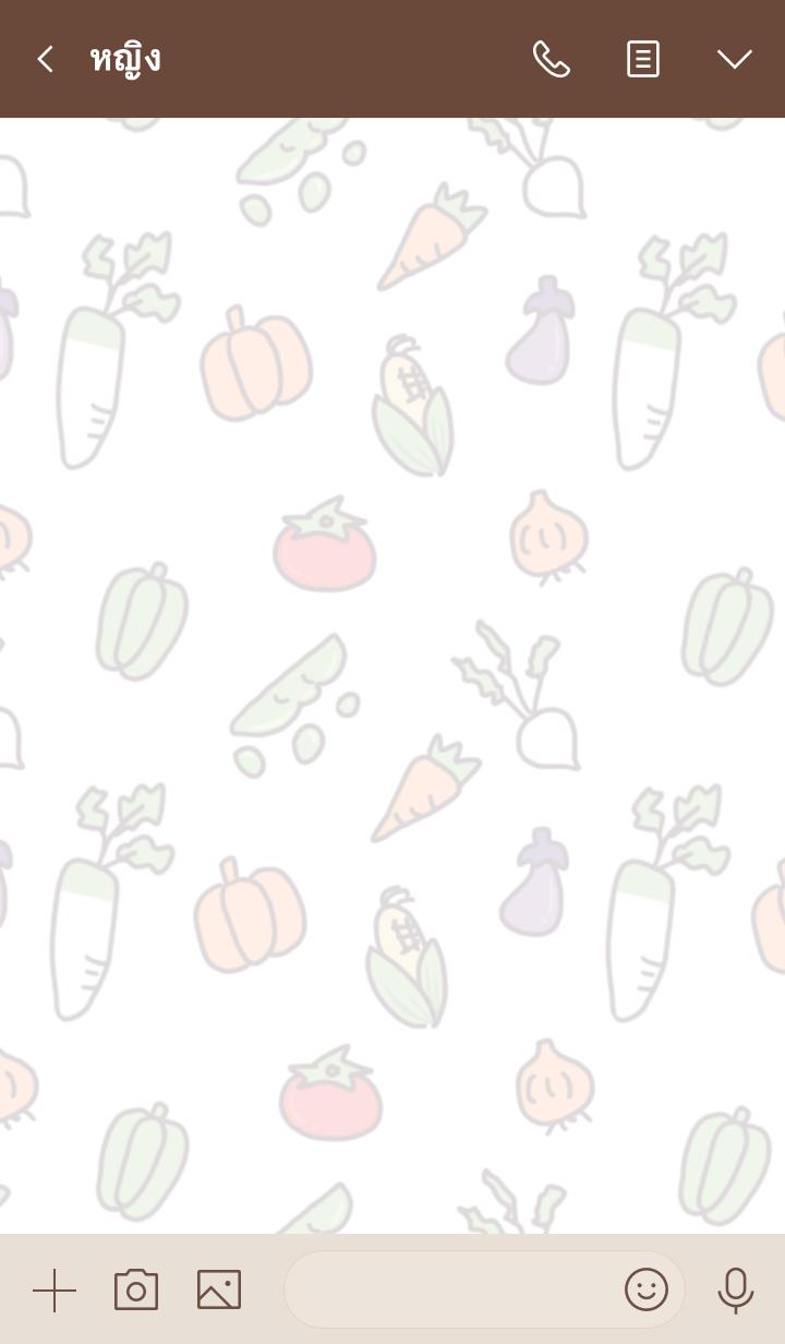 ธีมไลน์ Farmer and vegetable