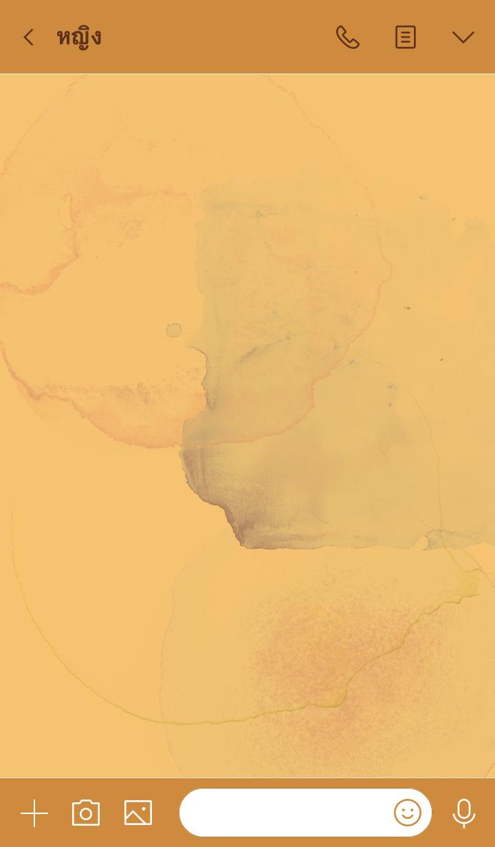ธีมไลน์ สีส้ม: ธีมโทนสีซีด