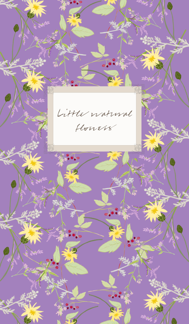 ธีมไลน์ Little natural flowers 04