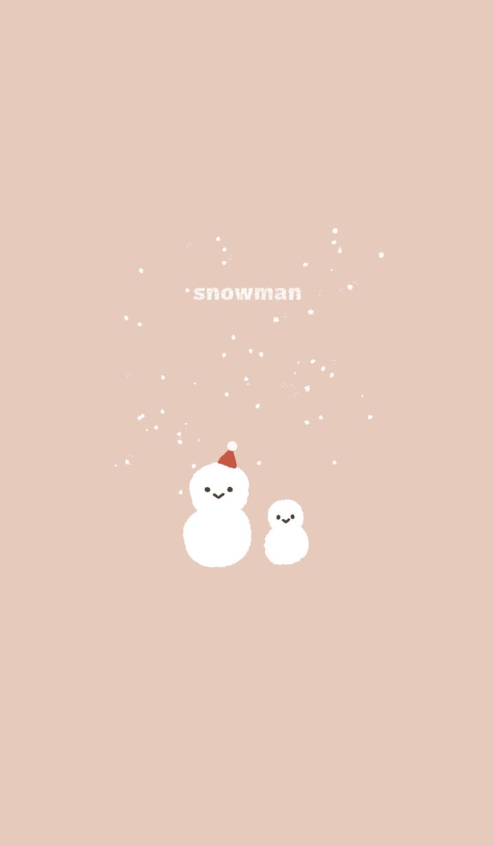 ธีมไลน์ snowman...