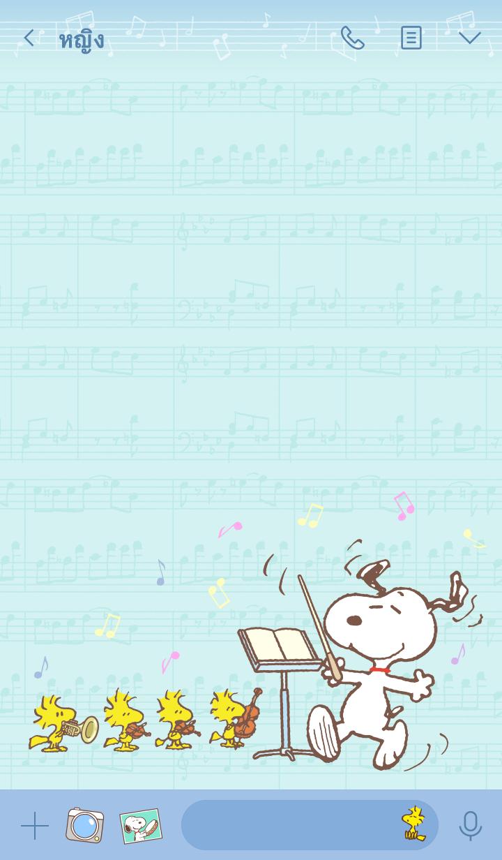 ธีมไลน์ สนูปี้♪ โลกแห่งเสียงเพลง