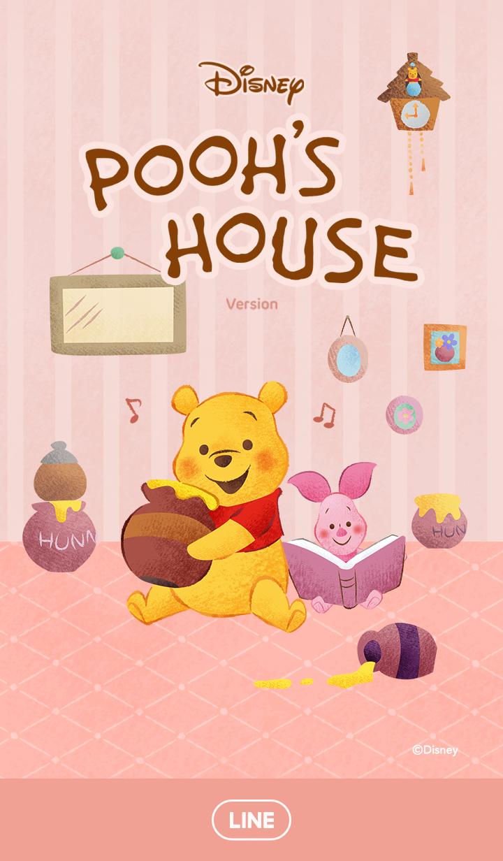 ธีมไลน์ หมีพูห์ บ้านอันแสนอบอุ่น