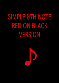 SIMPLE 8TH NOTE RED ON BLAC...