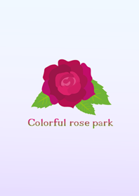 Colorful rose park