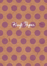 Kraft paper-Purple Small dot-
