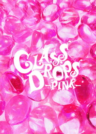 Glass drops -pink-