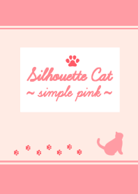 Silhouette Cat ~simple pink~