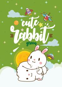 กระต่ายอ้วน กาแล็กซี่ สีเขียว