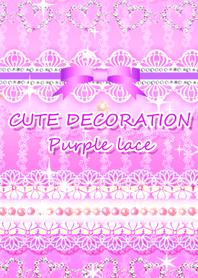CUTE DECORATION Purple lace