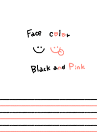 Face color Black and Pink