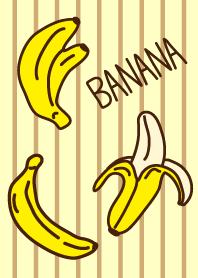 Banana - Brown vertical stripes-