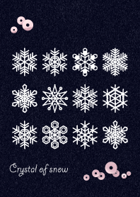 Crystal of snow-felt-