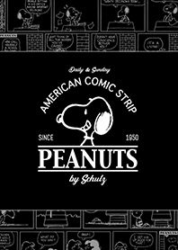 Snoopy Comic Strips (ดำ)