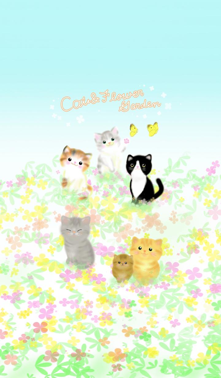 cats & flower garden