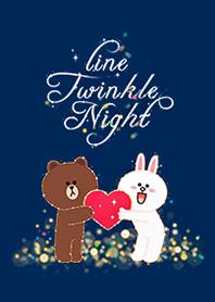 LINE閃耀夜晚