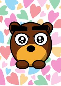 Black Eyebrows Bear 5