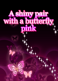 A shiny pair with a butterfly pink