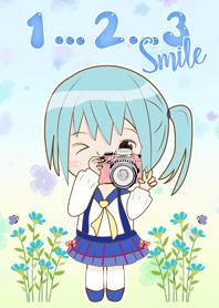 สาวน้อยฮานะโกะ ไปถ่ายรูปกัน 123 ยิ้ม