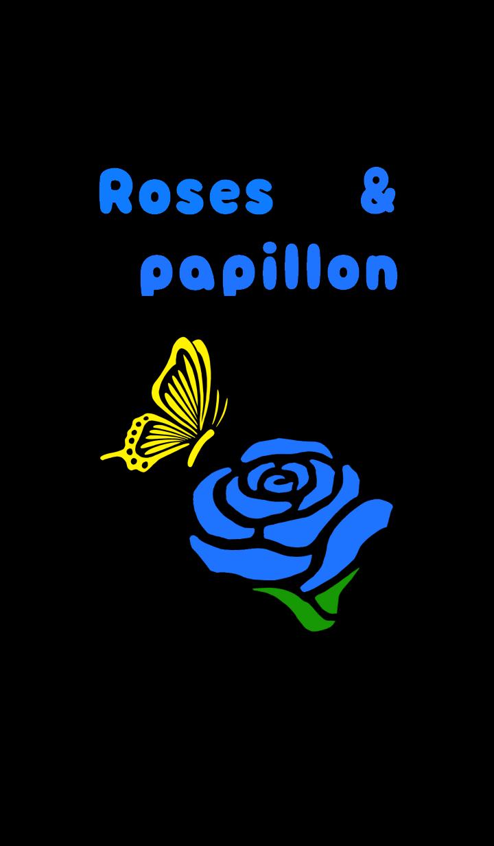 【主題】Roses and butterfly