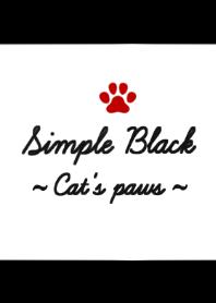 Simple Black ~Cat's paws~