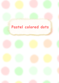 Pastel colored dots