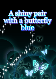 A shiny pair with a butterfly blue