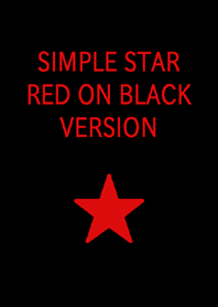 SIMPLE STAR RED ON BLACK VERSION