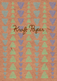 Kraft paper-Green triangle-