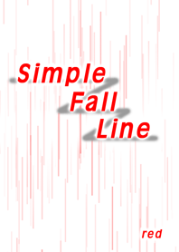 Simple Fall Line (red)