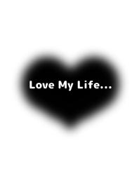 BLACK FLUFFY HEART THEME2