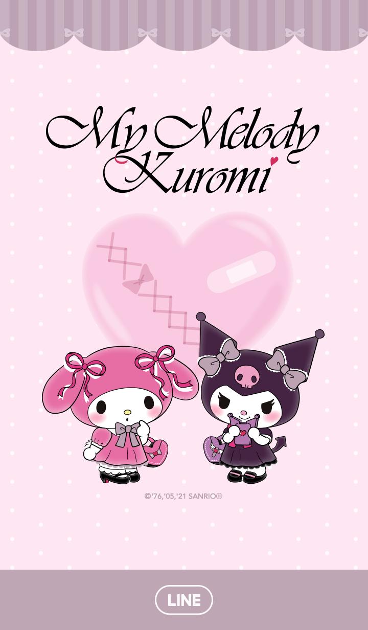 【主題】My Melody&酷洛米 粉藕色