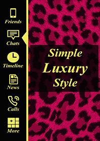 Simple luxury theme Pink leopard pattern