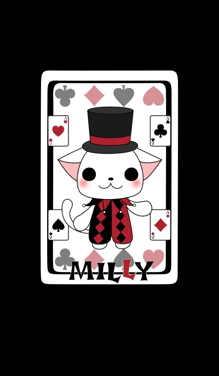 【主題】THE WHITE CAT MILLY AND THE CARDS