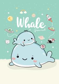 วาฬเกยตื้น สีกรีนมิ้นท์