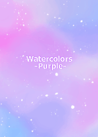 Watercolor -Purple-